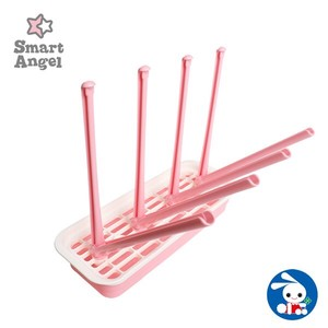 Nursing Bottle Drying Stand Pink