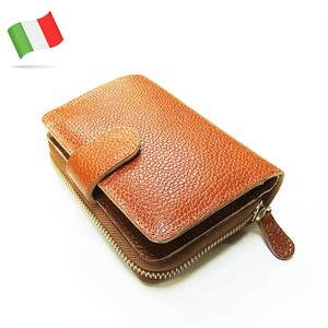 Italy Leather Two Round Wallet