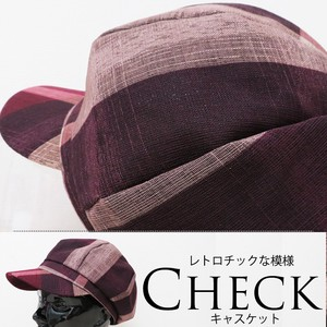 [ 2020NewItem ] S/S Washing Lady Hats & Cap Casquette Retro Checkered