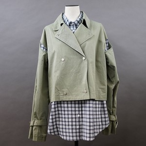 Open Checkered Shirt Layard Military Blouson