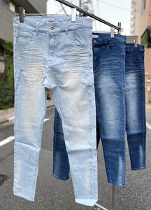 Men's 9/10Length Ankle Processing Skinny Denim Pants