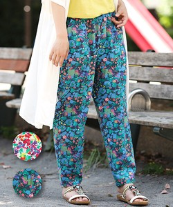 Flower Flower Tapered Pants Easy Leisurely Ethnic Flower Casual