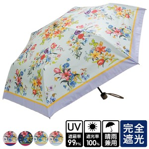 S/S All Weather Umbrella Botanical Folding UV Cut Countermeasure