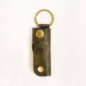 Leather Key Case Green Genuine Leather Men's Ladies Green
