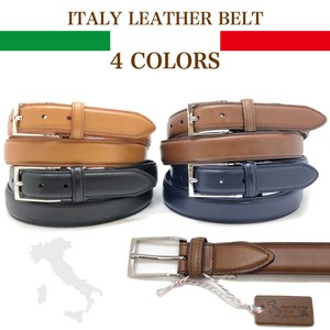 Italy Leather Genuine Leather Belt Push