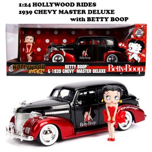 1:24 Hollywood Rides 1939 CHEVY MASTER DELUXE W/BETTY BOOP【 ベティブープミニカー】