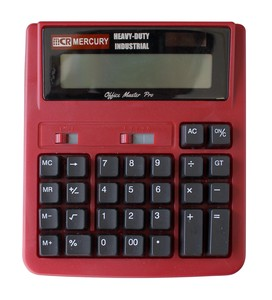 """Mercury"" Soalar powered Calculator Red"