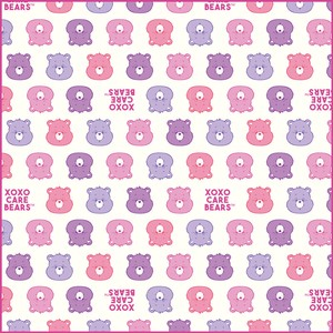 Care Bear Lunch Box Wrapping Cloth PINK PURPLE Pink Purple
