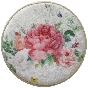 Low Rebounding Chair Pad Garden Rose Beige