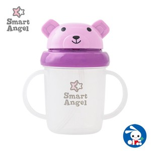 Bear Straw Mug Purple