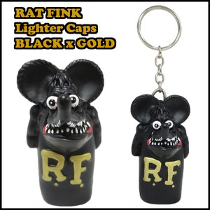 Rat Fink Cigarette Lighter Cap Bespoke Color BLACK GOLD