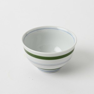 Pottery Original HASAMI Ware Line Sen Tea(Green Tea) Hand-Painted