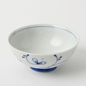 Pottery Original HASAMI Ware Arabesque Japanese Rice Bowl Hand-Painted