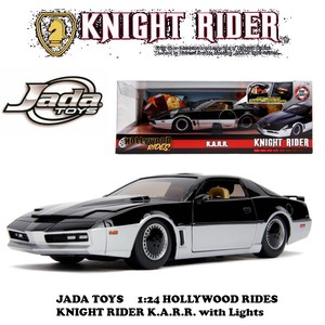 1:24 HOLLYWOOD RIDES - KNIGHT RIDER K.A.R.R. with Lights 【ナイトライダー ミニカー】