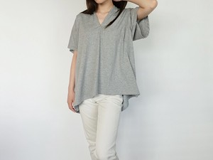 Neck Jersey Stretch Pullover