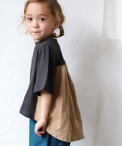 [ 2020NewItem ] Bag Switch Frill Docking Plain Border Short Sleeve T-shirt Cut And Sewn