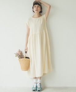 Double Gauze French Short Sleeve One-piece Dress