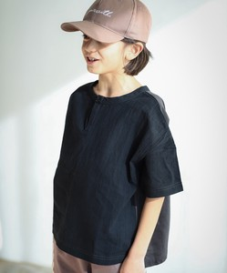 [ 2020NewItem ] Unisex Button Attached Waffle Short Sleeve T-shirt Cut And Sewn