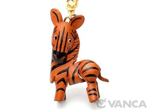 Zebra Genuine Leather Solid Key Ring Story Hand Maid