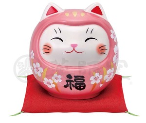 Happiness Ornament Interior Good Luck Cat Daruma Edible Cherry Piggy Bank