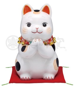 Happiness Ornament Interior Cat Large Piggy Bank