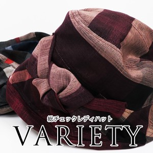[ 2020NewItem ] S/S Washing Lady Hats & Cap Tulip Retro Checkered Down Hat