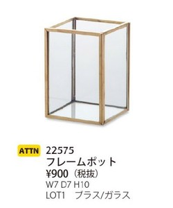 Glass Frame Pot