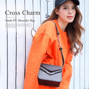 Cross Charm Studs Shoulder Bag