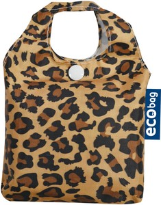 Pouch Attached Eco Bag Leopard Normal