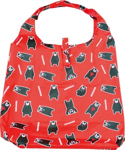 Kumamon Pouch Attached Eco Bag Repeating Pattern