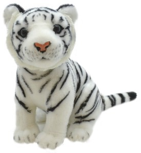Sitting Soft Toy White Tiger