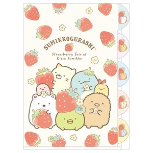 A4 Index Holder Pocket Strawberry