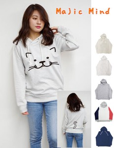 Big Face cat Fleece Long Sleeve Hoody