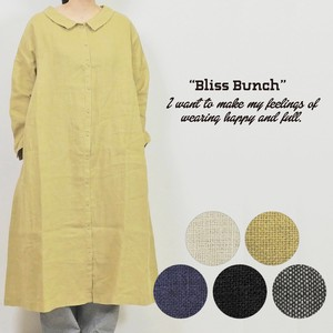 French Linen Attached One-piece Dress