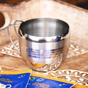 India Handle Attached Stainless Mug Cup Width