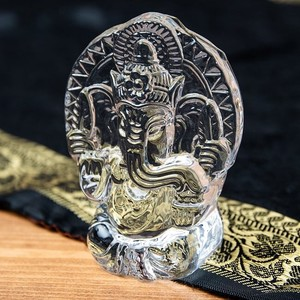 India God Glass Paper Weight 9cm