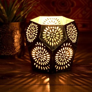 Geometric Patterns Watermark Sharpen Mandala Lamp Hexagon 10cm