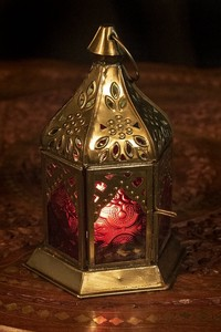 Morocco Style Watermark Sharpen LED Candle Lantern Candle LED Candle Attached