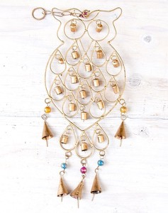 Chime Handmade Timbre India Objects and Ornaments Ornament Attached Hanging Owl