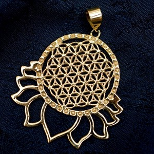 Flower Gold Pendant Head Attached 3.5