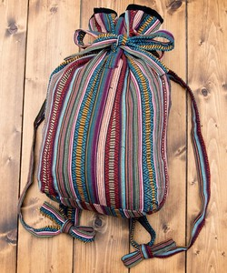 Nepal Backpack Pattern Stripe