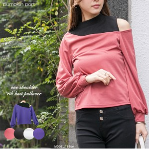 [ 2020NewItem ] Thin ponte fabric Petit Neck Design Shoulder Pullover