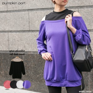 [ 2020NewItem ] Thin ponte fabric Petit Neck Shoulder Tunic