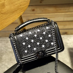 [ 2020NewItem ] Ladies S/S Fashion Chain Small Square Bag Shoulder Diagonally Bag Leather