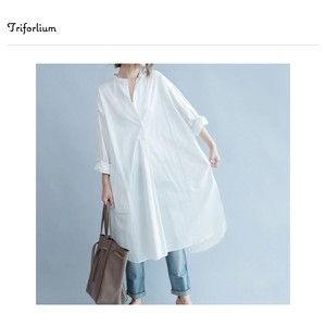 [ 2020NewItem ] Design Cotton Material Leisurely One-piece Dress