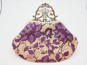 Feeling Coin Purse Bag Base Soft Floral Pattern