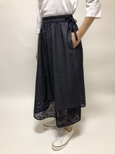 [ 2020NewItem ] Denim Lace Combi Skirt