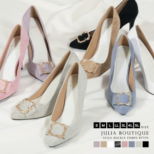 [ 2020NewItem ] Size L Buckle Attached Suede Heel Pumps
