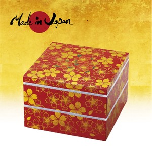Hananomai Two-tiered Food Box 7.0 with Sealed lid [ RED ]
