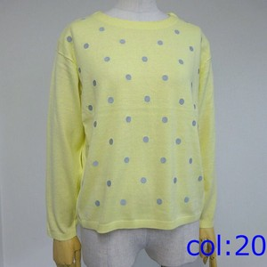S/S Silk Dot Embroidery Pullover